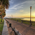 Charleston Sc Waterfront Park Sunrise  by Dustin K Ryan