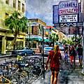 Charleston Street Scene - Watercolor by David Smith