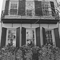 Charleston Style Home Black And White by Lisa Wooten
