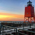 Charlevoix South Pier Lightstation by Megan Noble