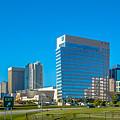 Charlotte North Carolina Cityscape Of Downtown by Alex Grichenko