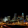 Charlotte Skyline Panoramic by Patrick Schneider
