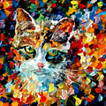 Charming Cat by Leonid Afremov