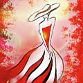 Charming Lady In Red by Irina Sztukowski
