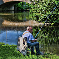 Chartres, France, A Good Day Fishing by Curt Rush