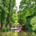 Chartres, France, Park On L'eure River by Curt Rush