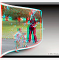 Chasing Bubbles - Use Red-cyan 3d Glasses by Brian Wallace