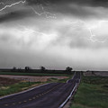 Chasing The Storm - Bw And Color by James BO  Insogna