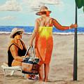 Chat On The Beach - Chat En La Playa by Rezzan Erguvan-Onal