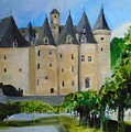 Chateau Jumilhac, France by Angela Cartner
