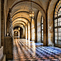 Chateau Versailles Interior Hallway Architecture  by Chuck Kuhn