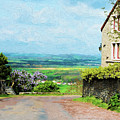 Chateauneuf, Cote-d'or, France, Village Lane by Curt Rush