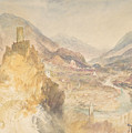 Chatel Argent And The Val D'aosta From Above Villeneuve by Joseph Mallord William Turner