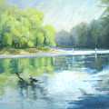Chattahoochee River- Trout Fishing by Keiko Richter