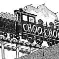 Chattanooga Choo Choo Sign In Black And White by Marian Bell