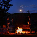 Chatting By The Campfire Under The Full Moon by Dale Kauzlaric