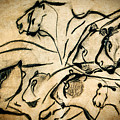 Chauvet Cave Lions by Weston Westmoreland