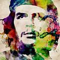 Che Guevara Urban Watercolor by Michael Tompsett