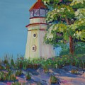 Cheboygan Lighthouse by Art Nomad Sandra  Hansen