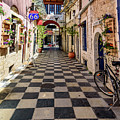 Checkered Streetscape In Lefkada, Greece  by Global Light Photography - Nicole Leffer
