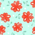 Cheerful Red Flowers by Boriana Giormova