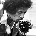 Jimi Hendrix Cheers 1969 by Chris Walter