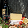 Cheese And Wine by Gaile Griffin Peers