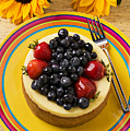 Cheesecake With Fruit by Garry Gay