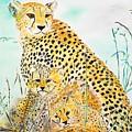 Cheetah Family by Valerie Ornstein