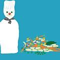 Chef Snowman by Barbara Moignard