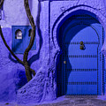 Chefchaouen Hotel Door by Lindley Johnson