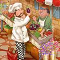 Chefs Go To Market I by Shari Warren