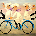 Chefs On A Bike by Barney Napolske