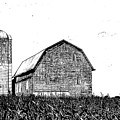 Chemung County Barn Sketch 01 by Jim Dollar