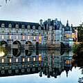 Chenonceau Twilight In Blue Closer- Vintage Version by Weston Westmoreland