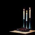 Cherries And Candles In Steel by Torbjorn Swenelius