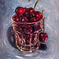 Cherries Original Oil Painting by Natalja Picugina