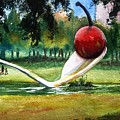 Cherry And Spoon by Marilyn Jacobson