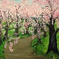 Cherry Blossom Walk by Helene Thomason