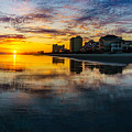Cherry Grove Beach Front Sunset by David Smith