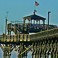 Cherry Grove Pier - Closeup End Of Pier by Joey OConnor