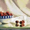 Cherry Still Life by Paulette B Wright