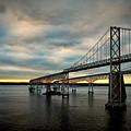 Chesapeake Bay Bridge At Twilight by Bill Swartwout Fine Art Photography
