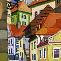 Chesky Krumlov Masna Street 1 by Yuriy  Shevchuk