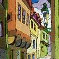 Chesky Krumlov Street Nove Mesto by Yuriy Shevchuk