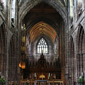 Chester Cathedral England Uk Inside The Nave by Robin Lewis