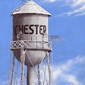 Chester Water Tower Ne by Cindy D Chinn