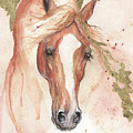 Chestnut Arabian Horse 2016 08 02 by Angel Ciesniarska