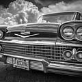 Chevrolet Biscayne 1958 In Black And White by Debra and Dave Vanderlaan