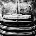 Chevrolet Truck Grille Emblem -0839bw1 by Jill Reger